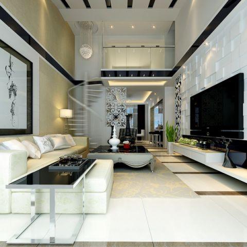 客厅电视柜现代风格装饰设计图片