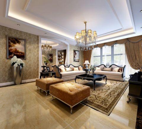 欧式风格160平米大户型室内装修效果图