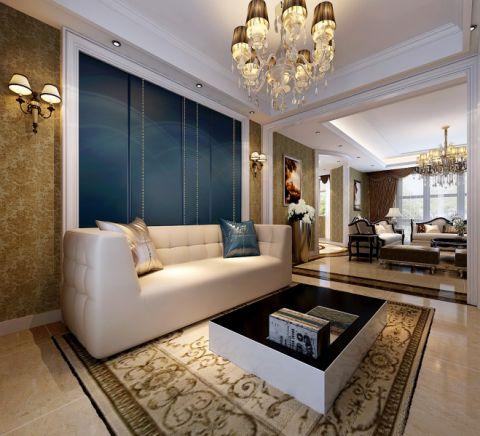 客厅茶几欧式风格装潢设计图片
