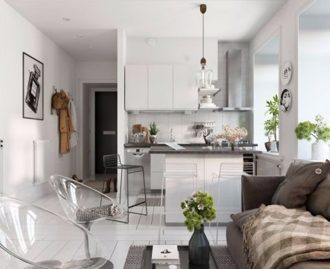 厨房橱柜北欧风格装潢效果图