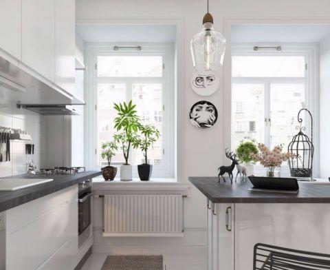 厨房窗台北欧风格装潢图片