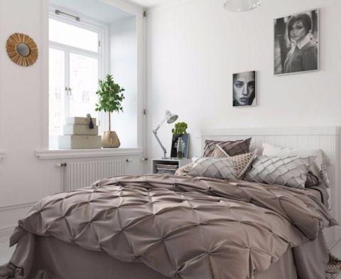 卧室照片墙北欧风格装修设计图片