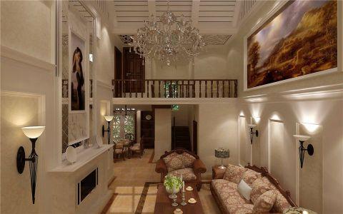 客厅背景墙欧式风格装修设计图片