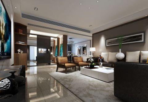 现代简约风格175平米大户型室内装修效果图