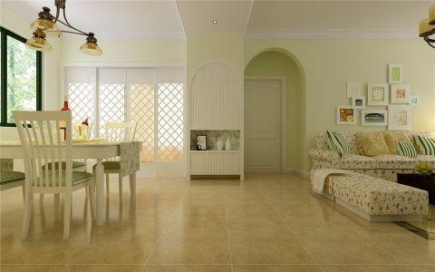 客厅走廊欧式田园风格装修图片