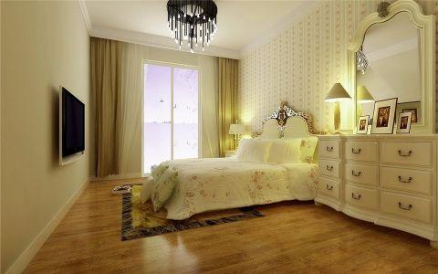 卧室窗帘欧式田园风格装潢图片