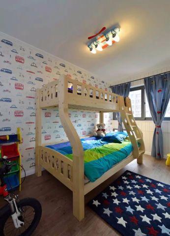 儿童房窗帘现代简约风格装修效果图