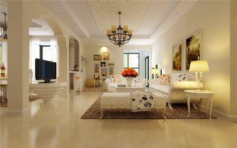欧式风格132平米套房室内装修效果图
