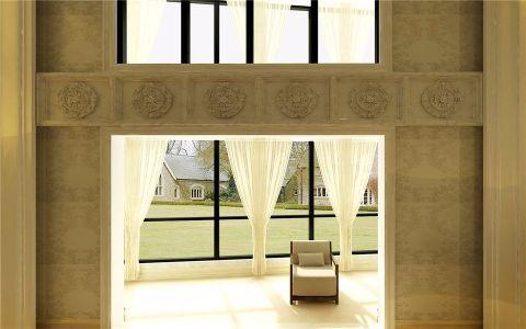 阳台窗帘简欧风格装潢效果图