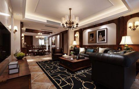 美式风格178平米大户型室内装修效果图