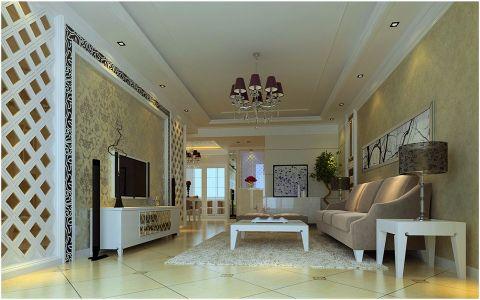 7万预算70平米两室两厅装修效果图