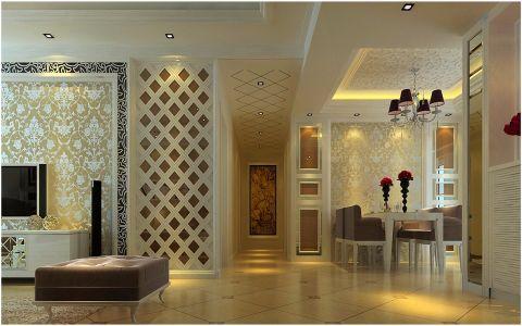 客厅走廊简欧风格效果图