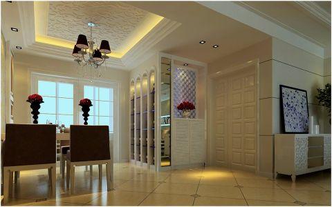 餐厅走廊简欧风格装潢效果图