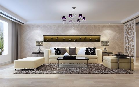 客厅沙发现代简约风格装饰设计图片