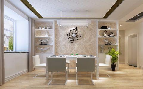 餐厅餐桌现代简约风格装修设计图片