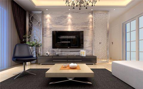 客厅推拉门现代简约风格装修效果图
