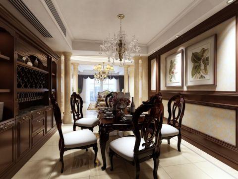 餐厅博古架欧式风格装修效果图