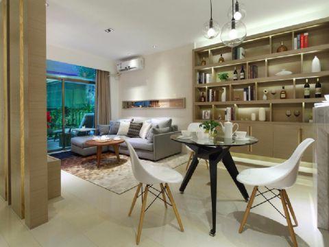现代简约风格103平米三室两厅新房装修效果图