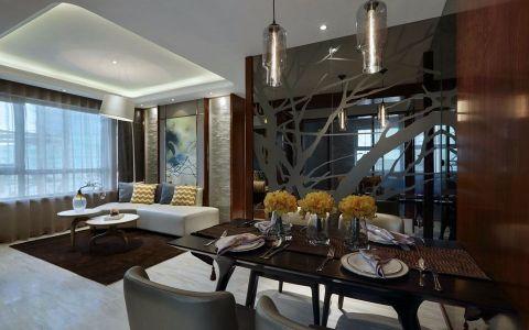 后现代风格138平米三室两厅新房装修效果图