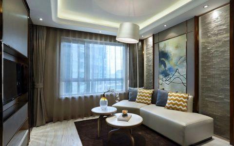 客厅茶几后现代风格装潢设计图片