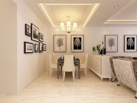 餐厅照片墙现代风格装修效果图
