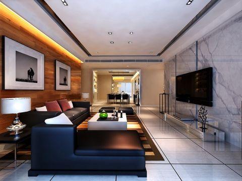 现代简约风格190平米大户型新房装修效果图