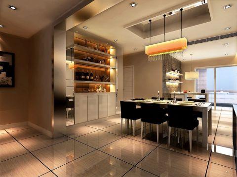 餐厅餐桌现代简约风格装饰设计图片