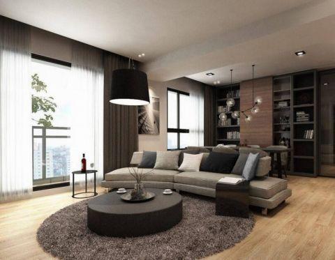 简约风格123平米三室两厅新房装修效果图