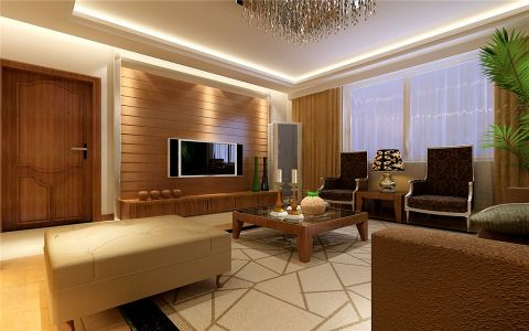客厅背景墙简约风格效果图