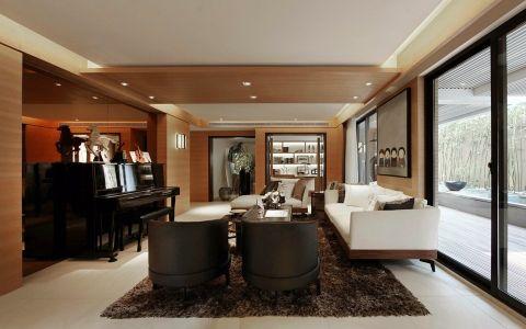 新中式风格118平米三室两厅新房装修效果图