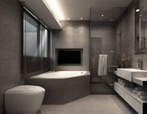 浴室浴缸简约风格装饰设计图片