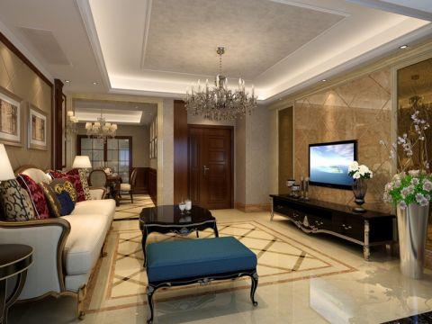 客厅电视柜欧式风格装潢图片