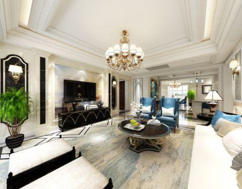 客厅欧式风格装潢设计图片