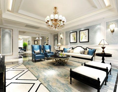 欧式风格200平米大户型室内装修效果图