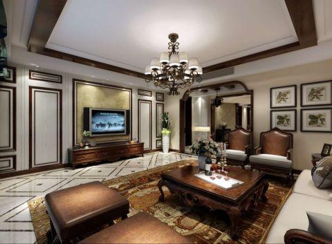 美式风格230平米大户型新房装修效果图