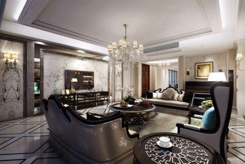 客厅电视柜法式风格装修设计图片