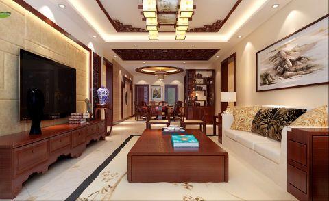客厅电视柜欧式风格装修设计图片