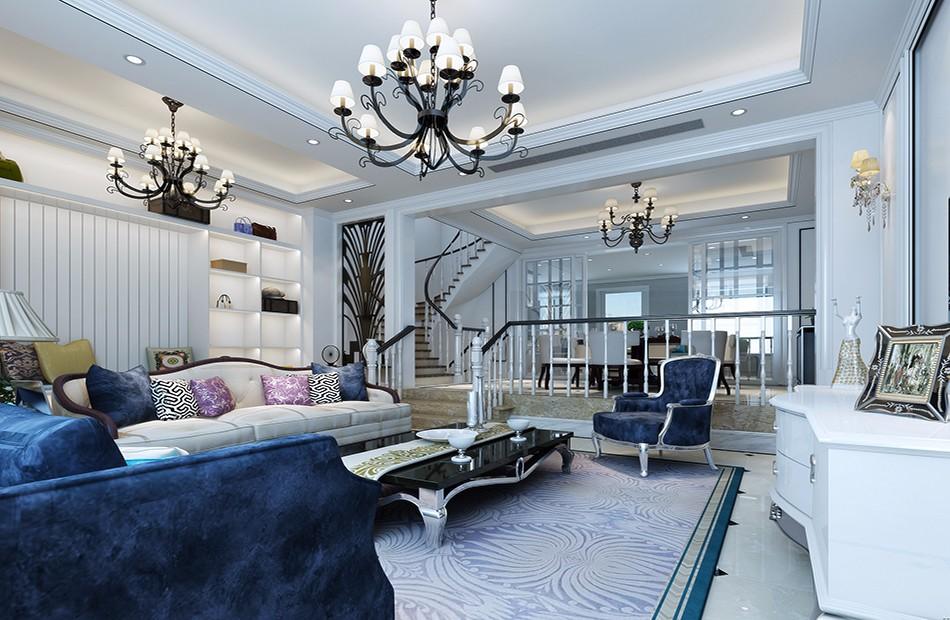 现代简约风格240平米复式装新房装修效果图