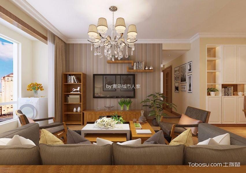 客厅白色吊顶日式风格装饰设计图片