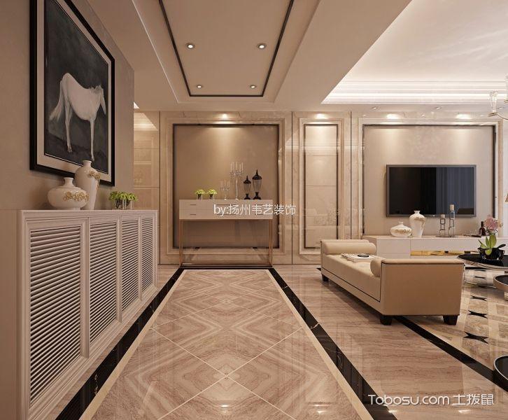 客厅咖啡色走廊现代欧式风格装潢图片