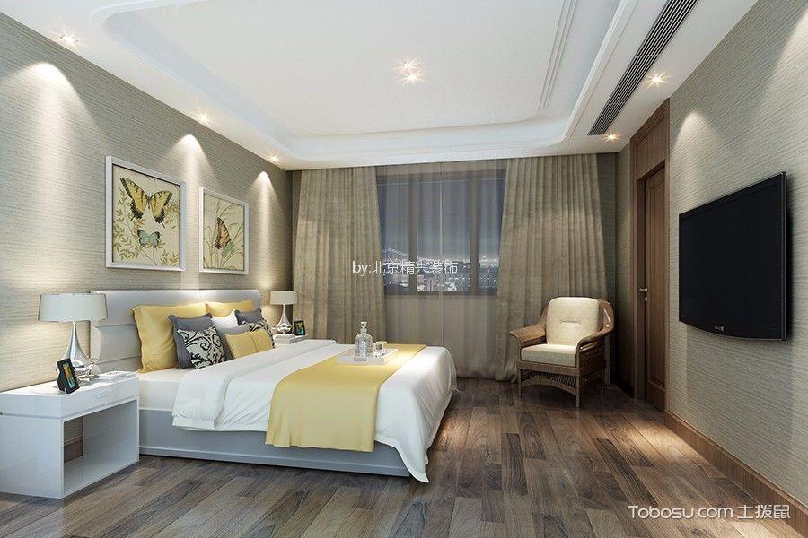 新中式风格170平米三室两厅新房装修效果图