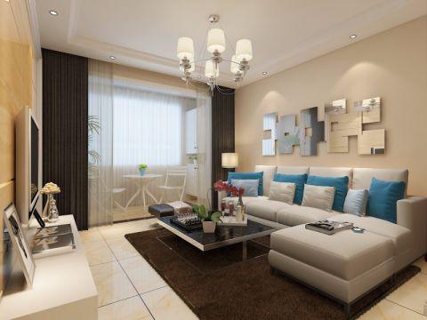 现代风格86平米两室两厅新房装修效果图
