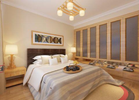 卧室床日式风格装修效果图