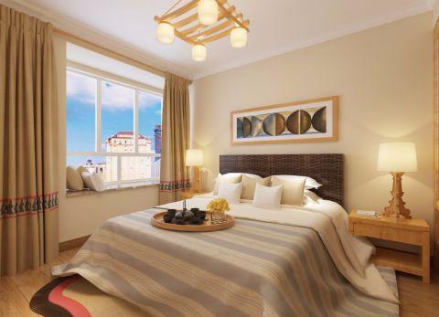 卧室窗帘日式风格装饰效果图