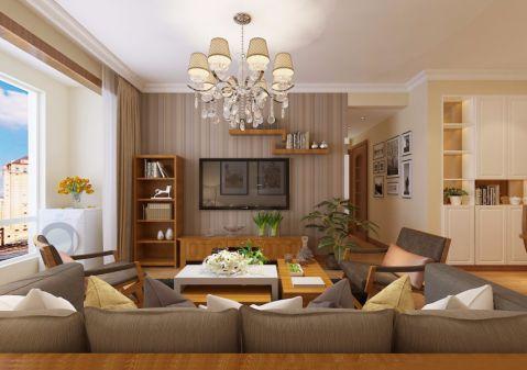 日式风格85平米两室两厅新房装修效果图