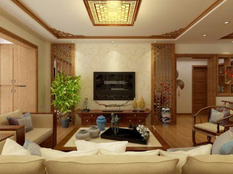 客厅电视柜新中式风格效果图