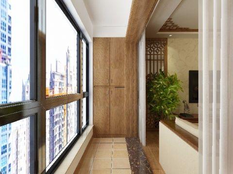 阳台地砖新中式风格装饰效果图
