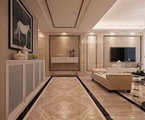 客厅走廊现代欧式风格装潢图片