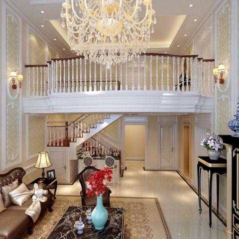 客厅楼梯欧式风格装潢设计图片