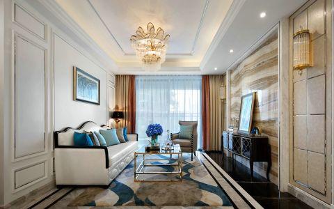 新古典风格100平米三室两厅新房装修效果图